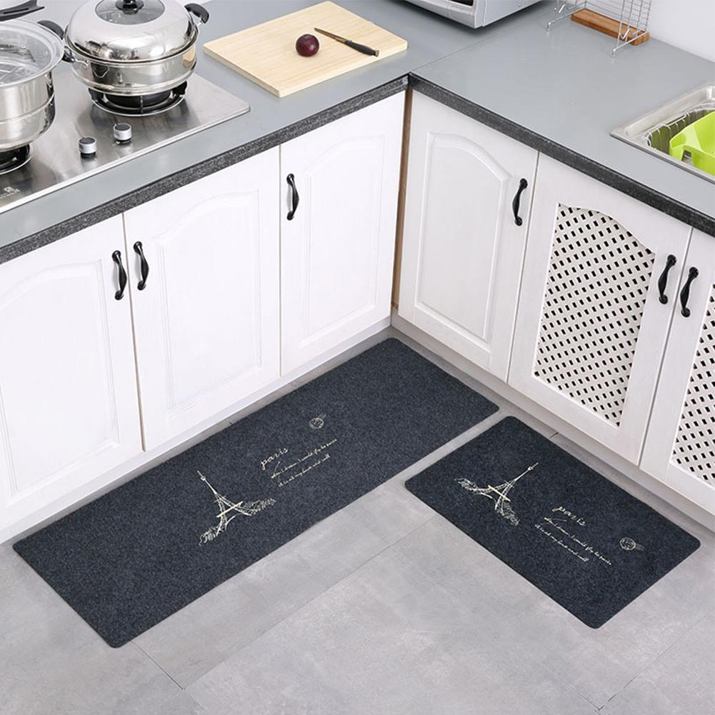 MG 2Pcs Non Slip Water Oil Absorption Mats Carpet for Kitchen