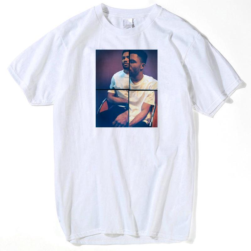 c2d5d7190 Voltreffer Frank Ocean Blonde T Shirt Men Letter Print Tee Shirt Male  Hiphop White Graphic Top