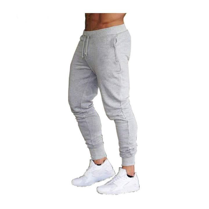 Zzooi Joggers Men Pantalon Solid Sweatpants Gray Thin Skinny Pants Ropa Hombre Tracksuit Casual Trousers Gym Spodnie Dresowe Fitness Lazada