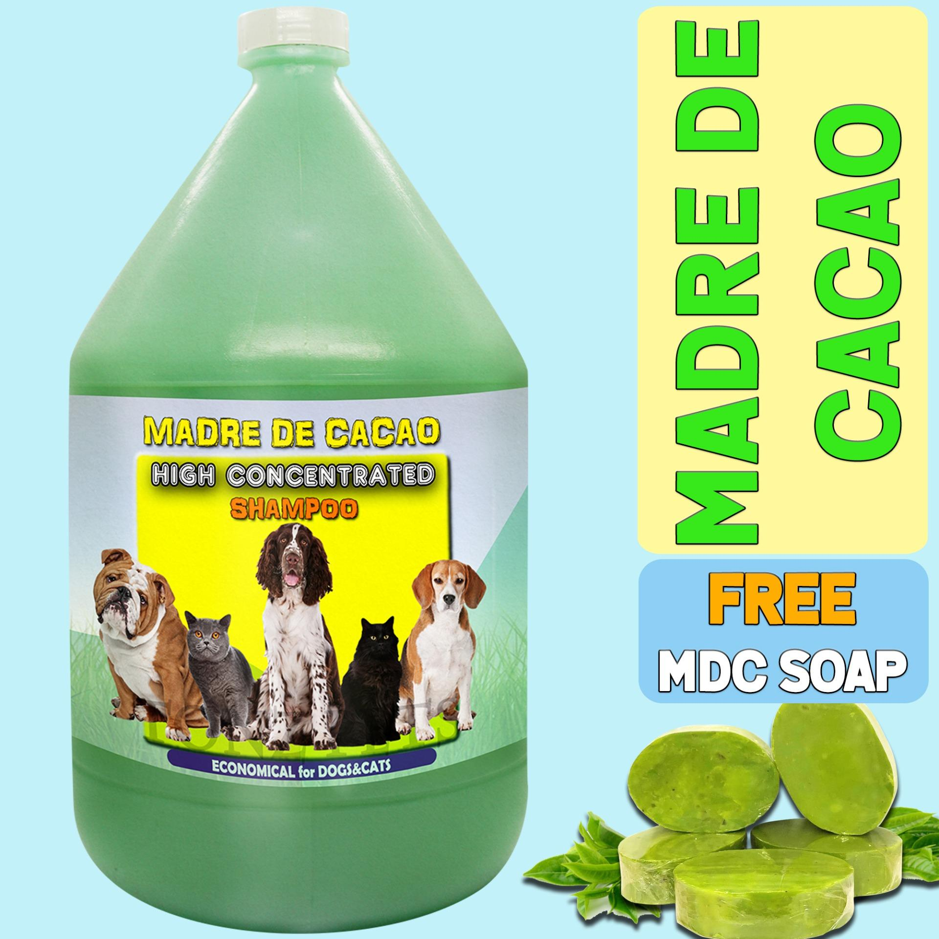 1 Gallon Madre De Cacao Shampoo With Guava Extract Supplier With Mdc Soap For Dogs And Cats, Anti-Mange, Anti-Ticks, Anti-Bacterial By Madre De Cacao Products.
