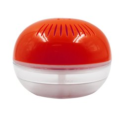 Air Purifier with Colorful LED lights and Adapter (Red Orange)