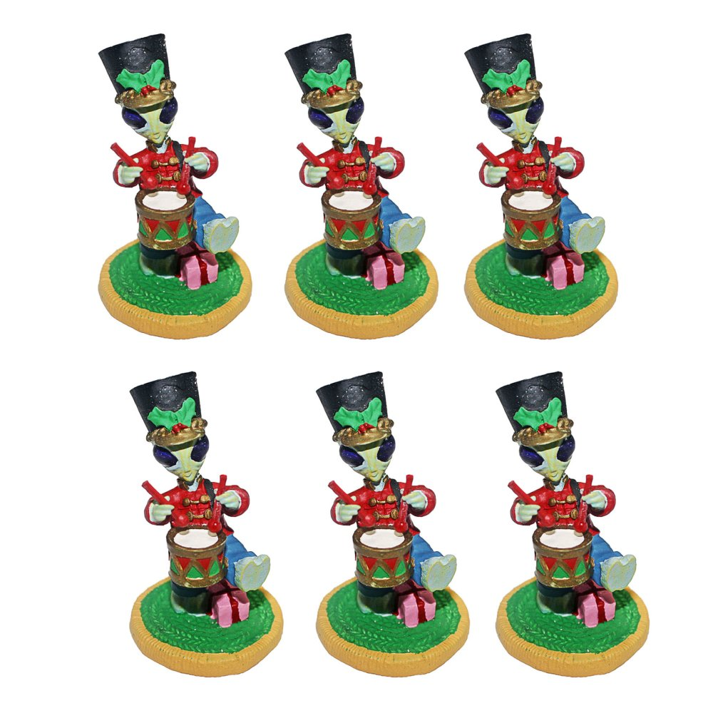 Alien Ornament Drummer Boy Set of 6 - thumbnail