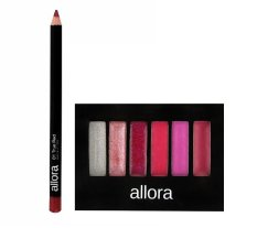 Allora Lipliner Pencil 1g (True Red) and Allora Lipcolour Palette 2g (Pink Ladies) Philippines