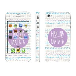 Apple iPhone 4s Hakuna Matata Pattern 1 Skin Cover by OddStickers