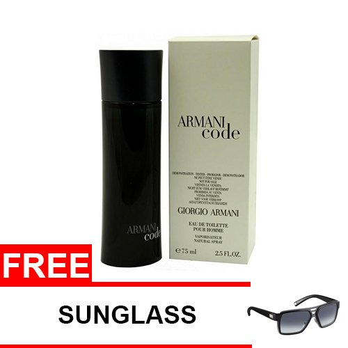 Armani Code Eau De Toilette for Men 75ml (Tester) with Free Sunglass - thumbnail