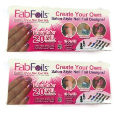 As Seen on TV FAB Foils 13-piece Nail Art Kit (Multicolor) Set of 2 Philippines