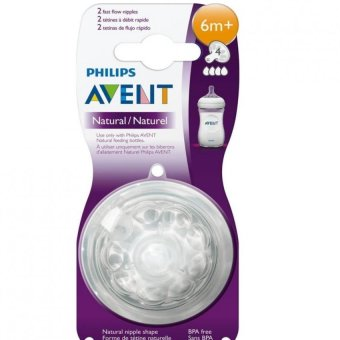 Avent Natural Feeding Bottle Fast Flow Nipple (2pcs)