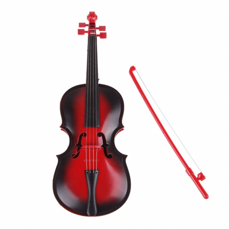 Red kids Educational Creative Gift Toys Simulation Led Violin Musical Toy