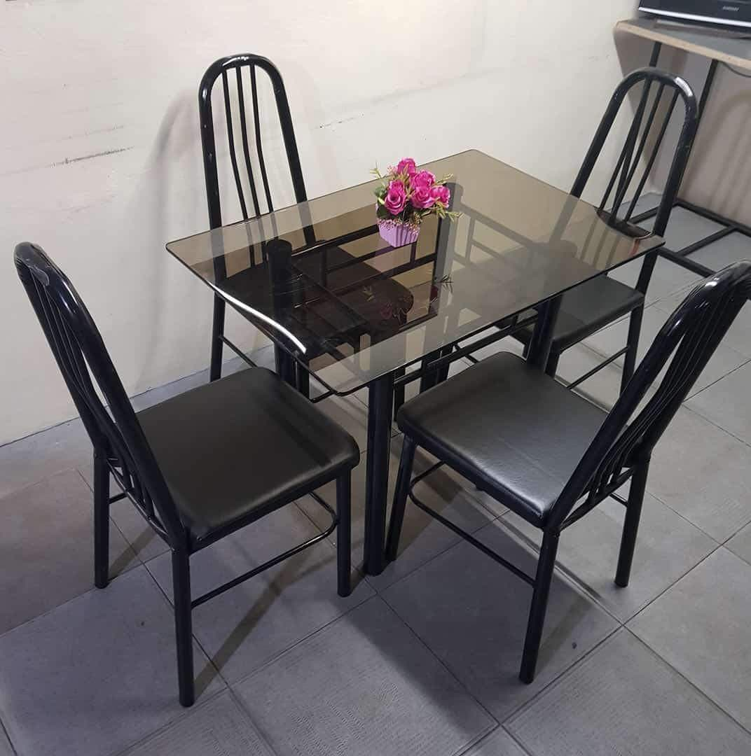 Glass Table Dining Set 4 Seater Buy Sell Online Dining Room Sets With Cheap Price Lazada Ph