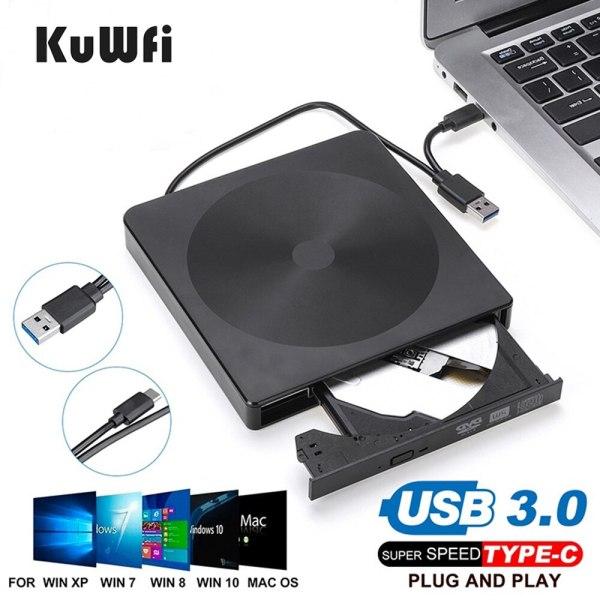 Bảng giá Ổ Đĩa CD/ DVD Gắn Ngoài USB 3.0 & Loại C Máy Ghi Ghi Không Cần Ổ Đĩa Máy Phát DVD-RW Ngoài Cho PC/Laptop Phong Vũ