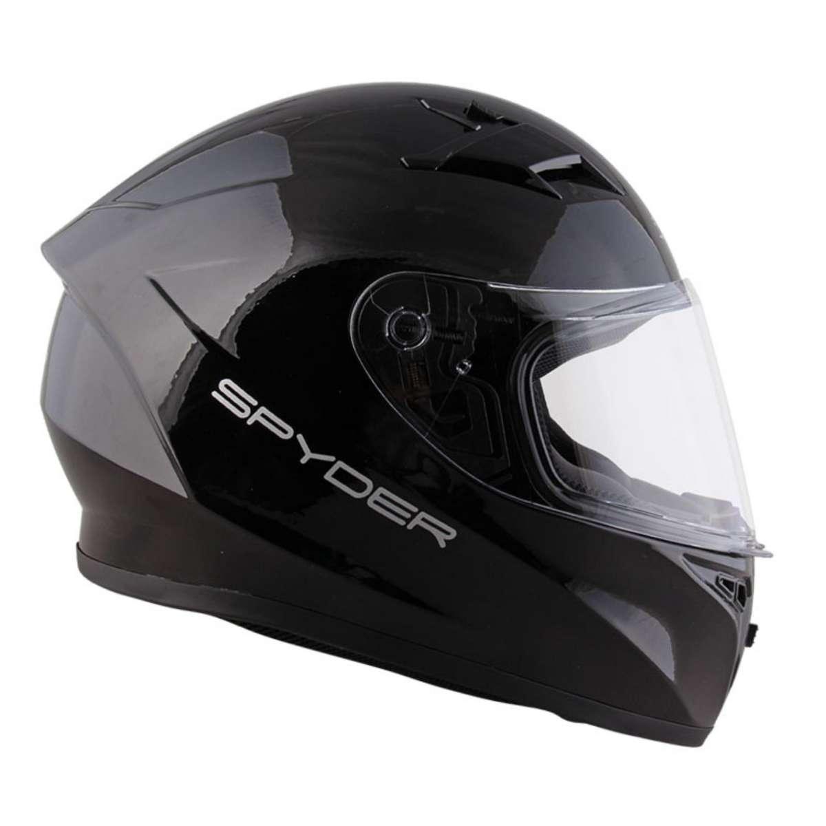 0fde91f9 SPYDER PHOENIX MATTE BLACK GLOSSY BLACK HELMET FULL FACE MOTORCYCLE GEARS