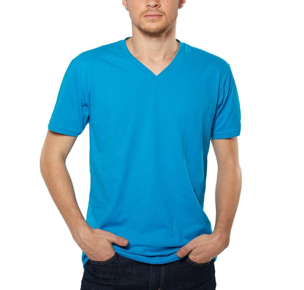Plain Vneck T Shirt for Men (S,M,L,XL)