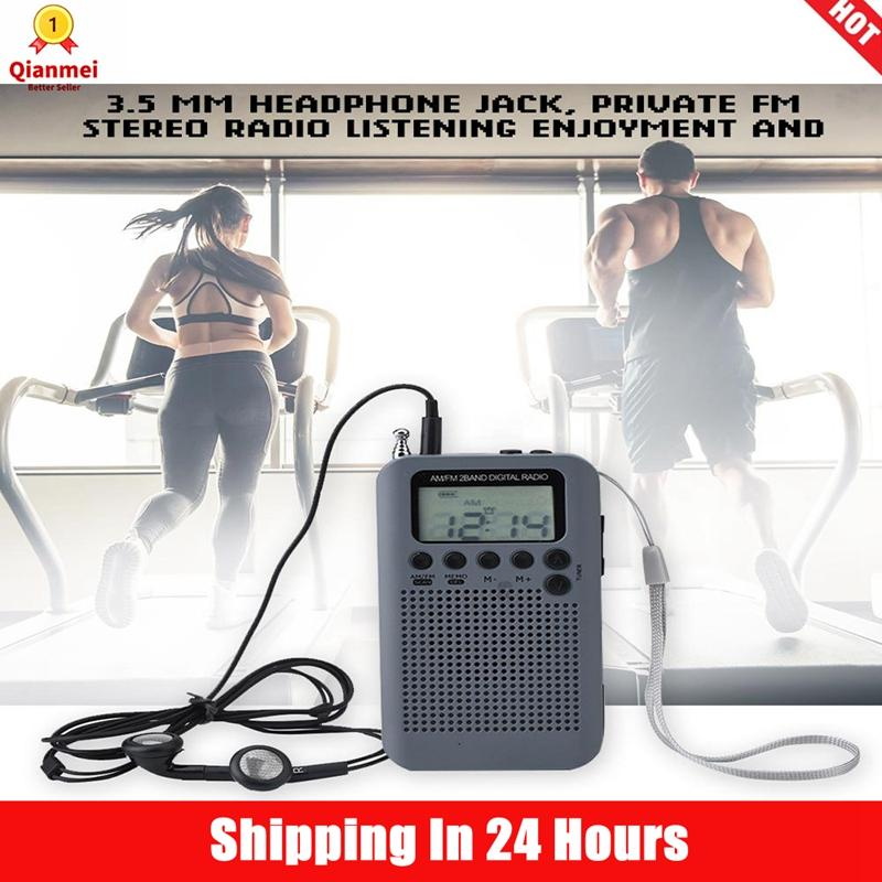 (3pcs Free Shipping)qianmei Am/ Fm Decoding Digital Radio 2 Band 8uv Stereo Radio Digital Tuning Radio Pocket Radio By Qianmei.
