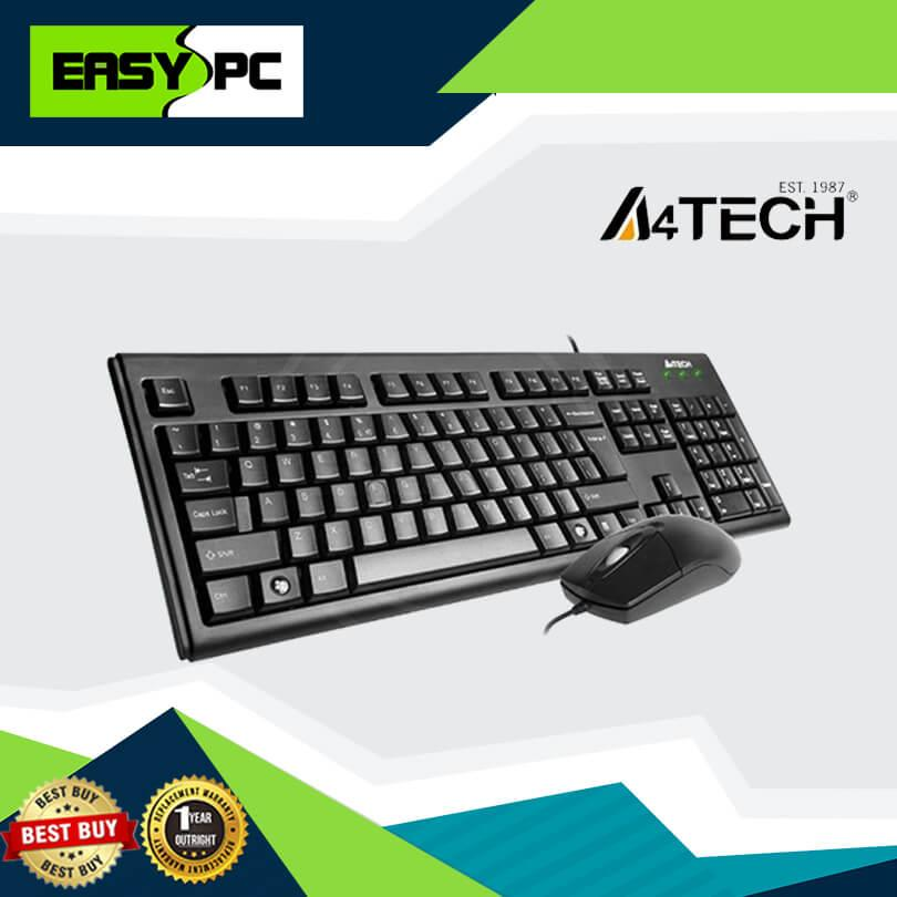A4tech KRS-8372 Keyboard and Mouse Usb Bundle Black, A4 Tech KRS8372  A-Shape Keyboard design and 1000DPI Optical Mouse, A4-Tech Gaming and  Office use
