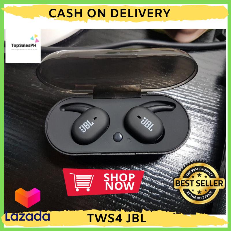 Original Jbl Tws 4 Wireless Earbuds Sound Noise Cancelling In Ear Waterproof Wireless Tws4 Earphone Bluetooth Toph Lazada Ph