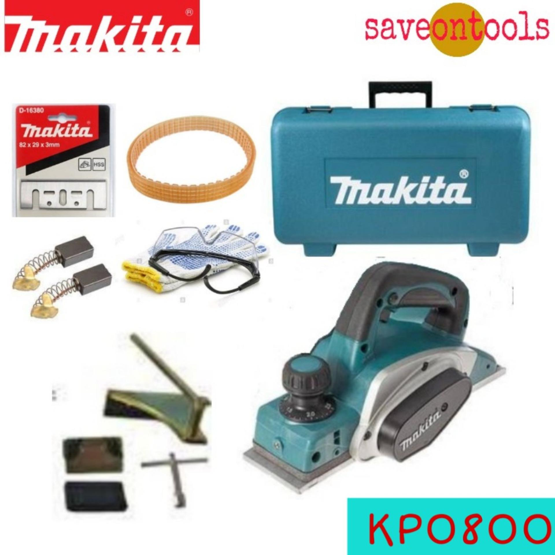 Makita Planer Electric with Extra Makita Blade Carbon Brush Belt Freebies