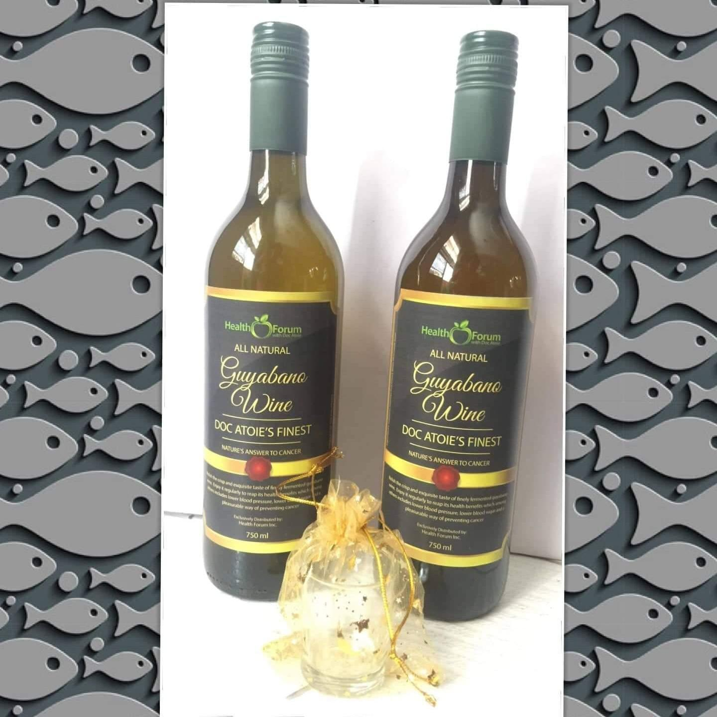 GUYABANO WINE - FORMULATED BY DOC ATOIE 750ML with FREE COSMETIC POUCH