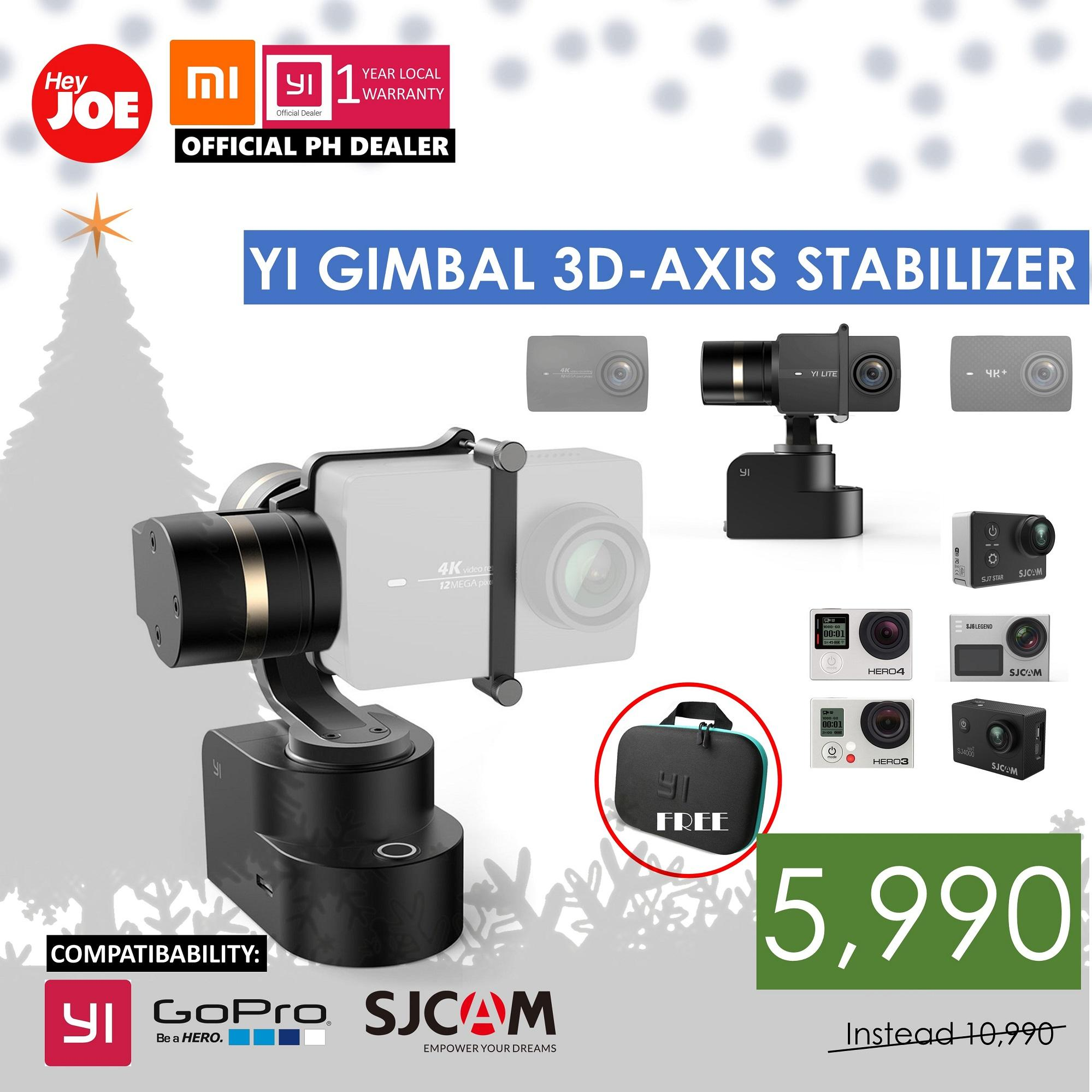 Xiaomi Yi 2 4k Ver International Action Camera Black Cameras Philippines Sports For Sale Gimbal 3 Axis Handheld Mountable Stabilizer Only