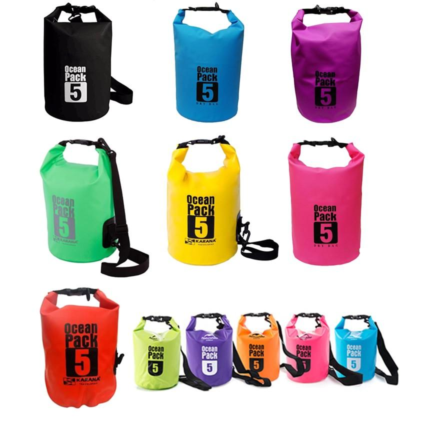 Ocean Pack Waterproof Floating Dry Bag 5L ideal for Outdoor Sports image on snachetto.com