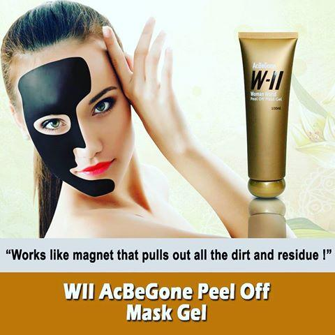 Authentic WII Acbegone Peel Off Mask Gel 100 ml made in Taiwan