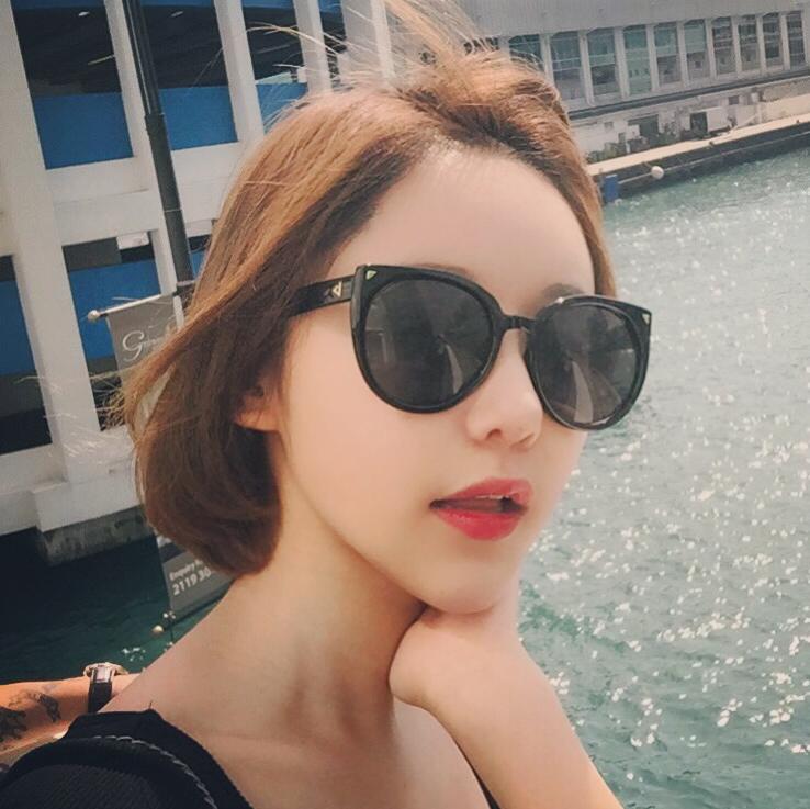 6044a82987c Korean Style Sunglasses Unisex Fashion 2017 Reflective SHININGSTAR Online  Celebrity Retro Simple Cool Big Box round