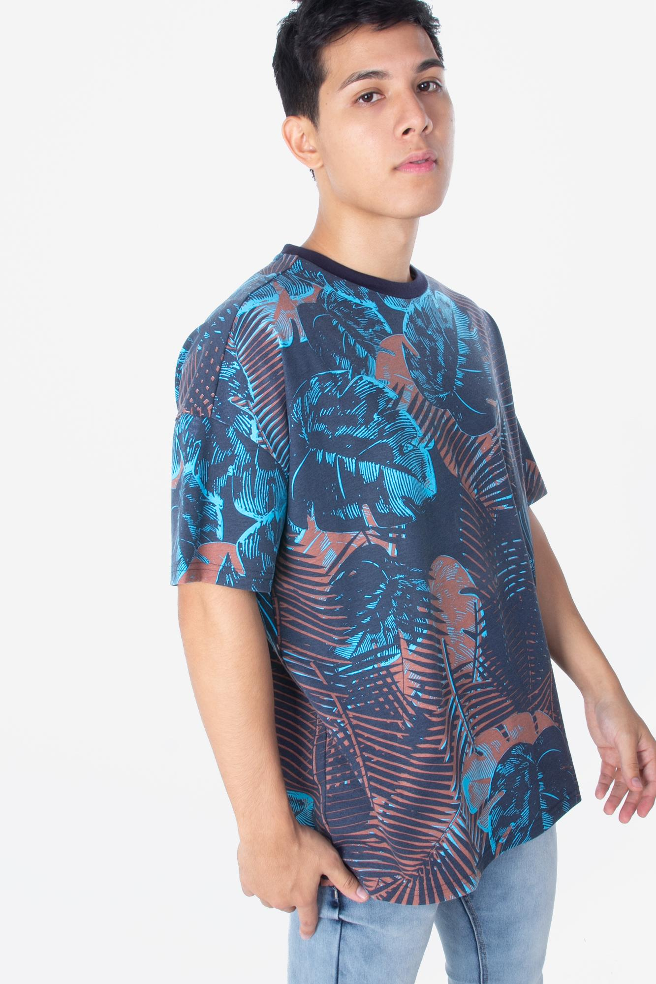 Penshoppe Oversized Tee With All-Over Print (Midnight Blue) dab300d2716