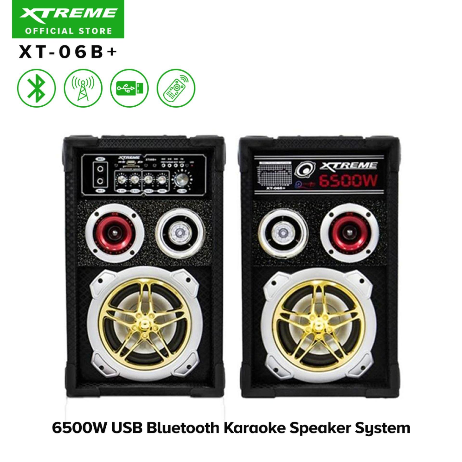 XTREME XT-06B+ 6500W USB Bluetooth Karaoke Speaker System (Black)