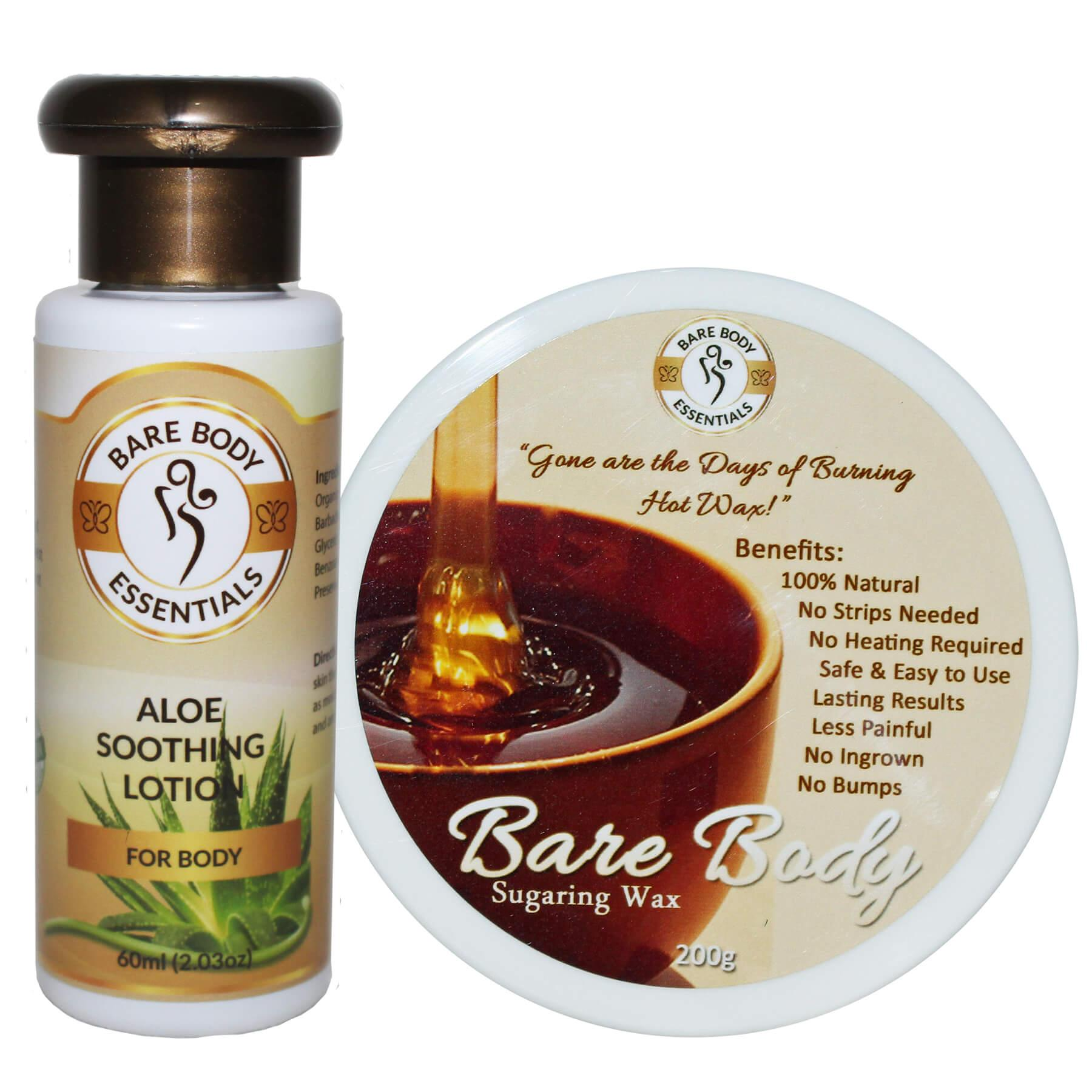 Bare Body Sugar Wax Regular (200g) with Aloe Soothing Lotion 60ml