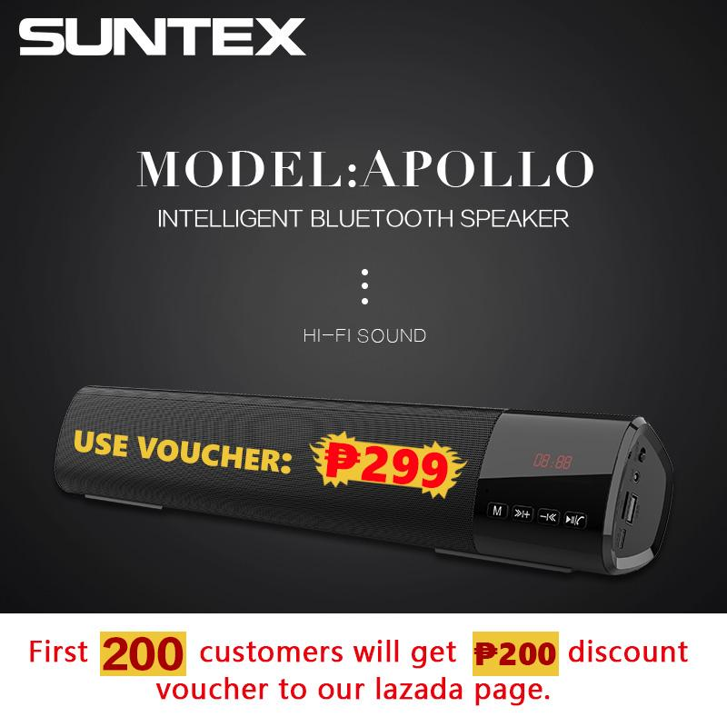 Suntex Apollo Supreme Bluetooth 5 0 Mini Audio Soundbar Speaker FM AUX with  Mic to answer calls compatible for mobile phones Computer Tablet with SD