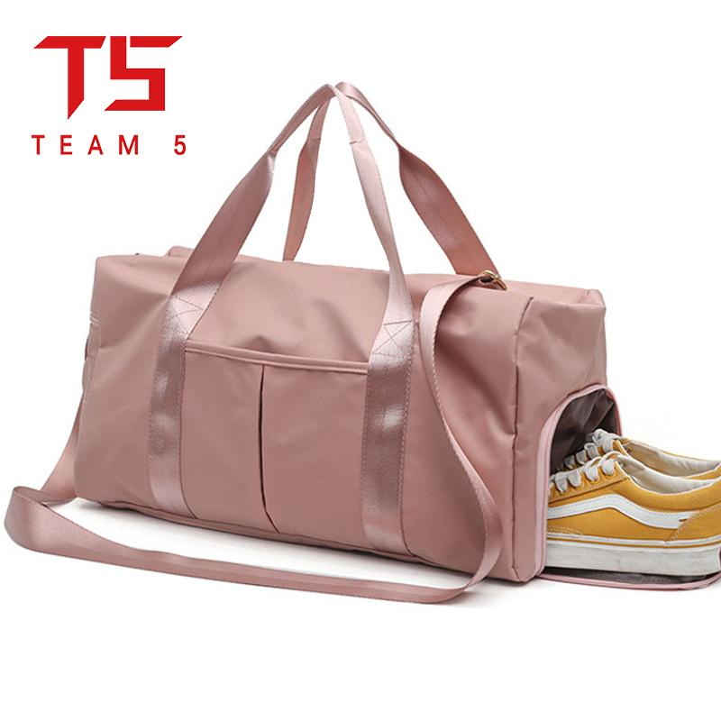 65dd3a442d T5 Ladies travel bag wet and dry separation waterproof weekend bag Oxford  cloth luggage bag handbag shoulder bag travel bag wet and dry sports bag ...
