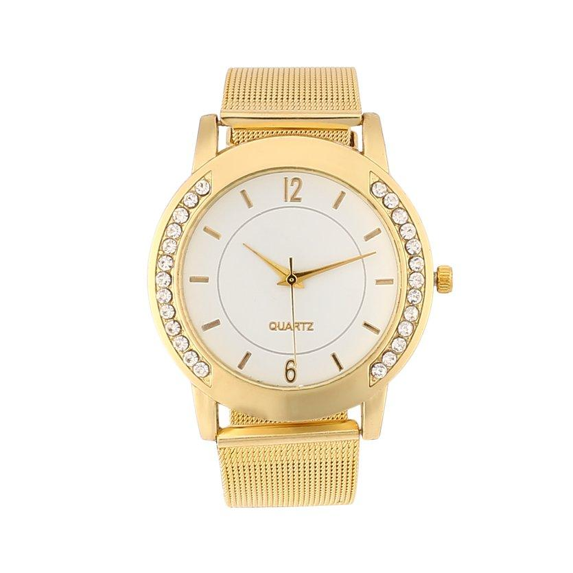Here Fashion Women Watch Quartz Movement Round Dial Pin Buckle Wearing Perfect Gift