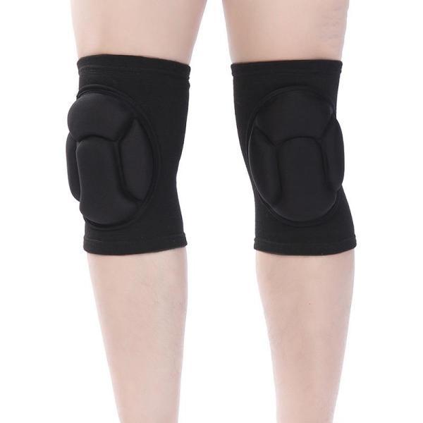 Black Sports Sponge Knee Pad High Density Dance Knee Pad Running Mountaineering Protective Gear Volleyball Football Basketball Knee Pads Knee Pads