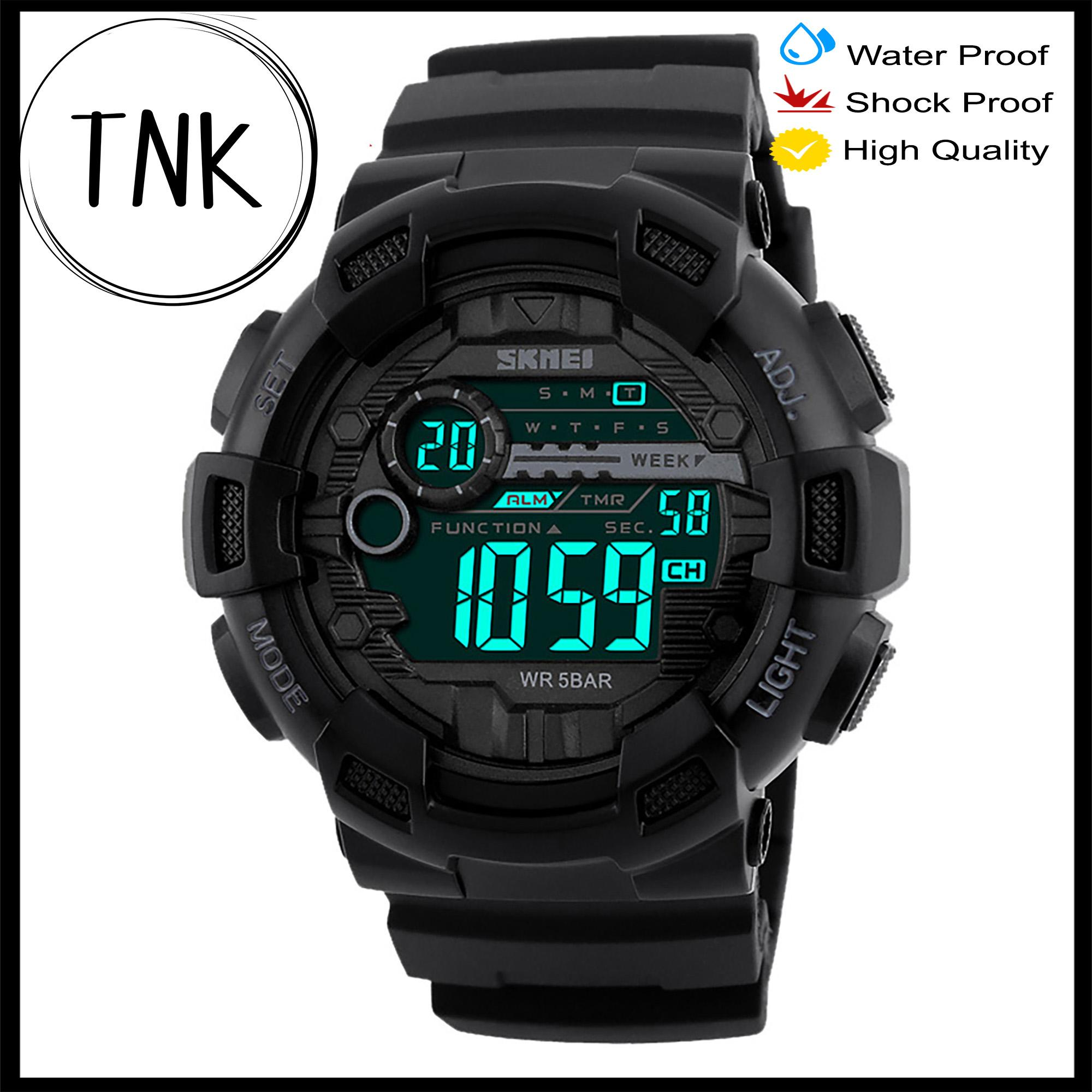 85de6046ecd6 SKMEI 1243 Men Sports Watches 50M Waterproof Back Light LED Digital Watch  Chronograph Shock Double Time