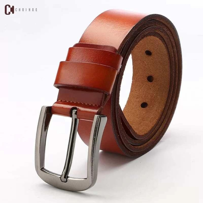 23a47b00fcac5 Simple retro pin buckle casual handmade leather belt men s leather belt  jeans wild belt Real leather