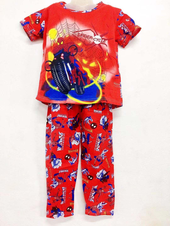 Xuebami Spiderman2 Terno Panjama Sleepwear For Boys By Xuebamiph