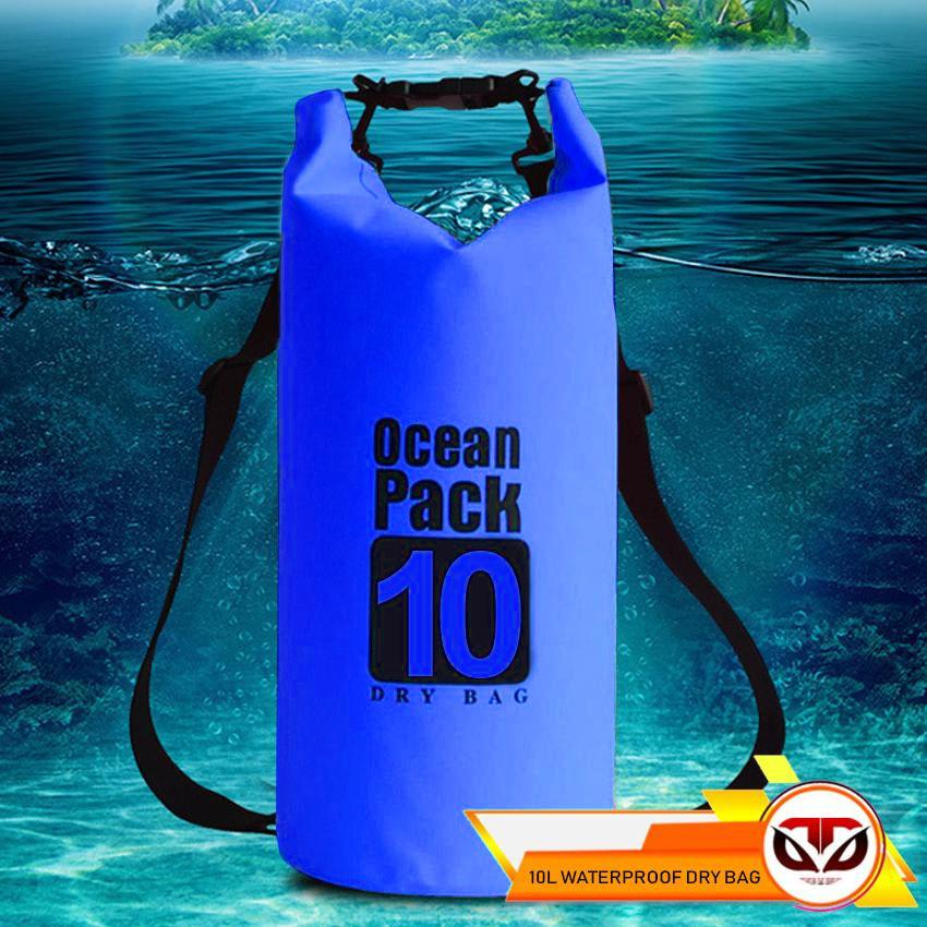 D&D 10L Ocean Pack Waterproof Storage Dry Bag Pouch for Boating Kayaking Hiking surfing image on snachetto.com
