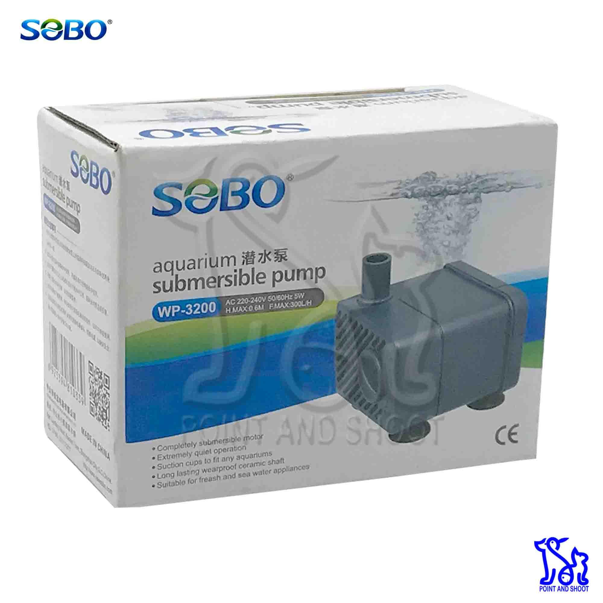 Sobo Submersible Pump WP-3200 AC 220-240V 5W