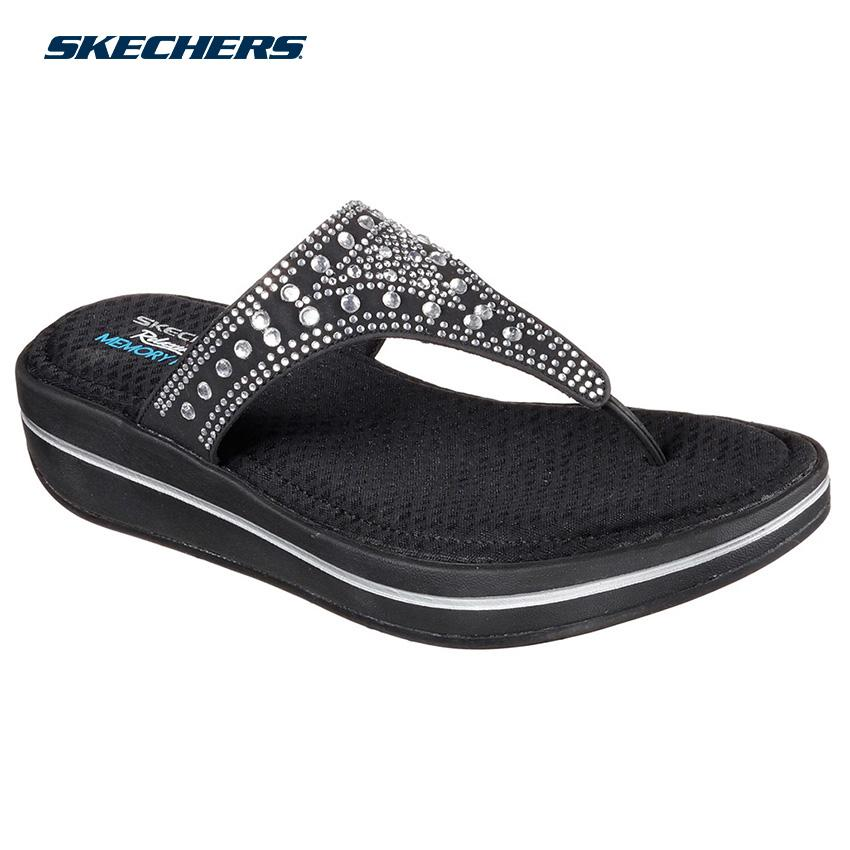 8acd89f795a634 Skechers Women Upgrades Sandals - Fashion Footwear 40767-BLK (Black)