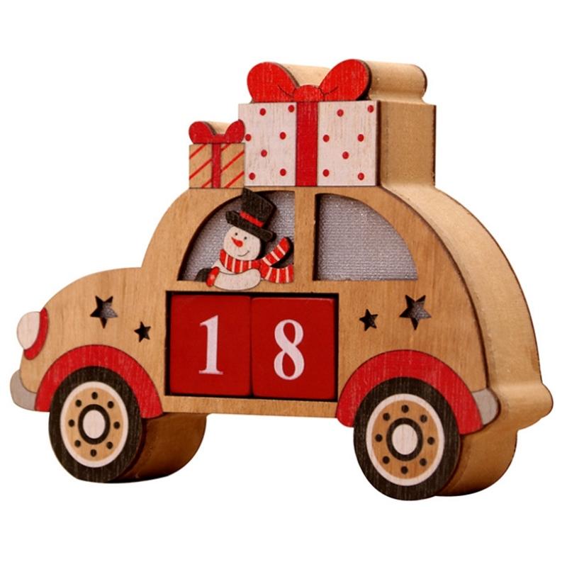Wood Christmas Advent Calendars Christmas Decorations for Home Christmas Ornament Creative Christmas Gifts