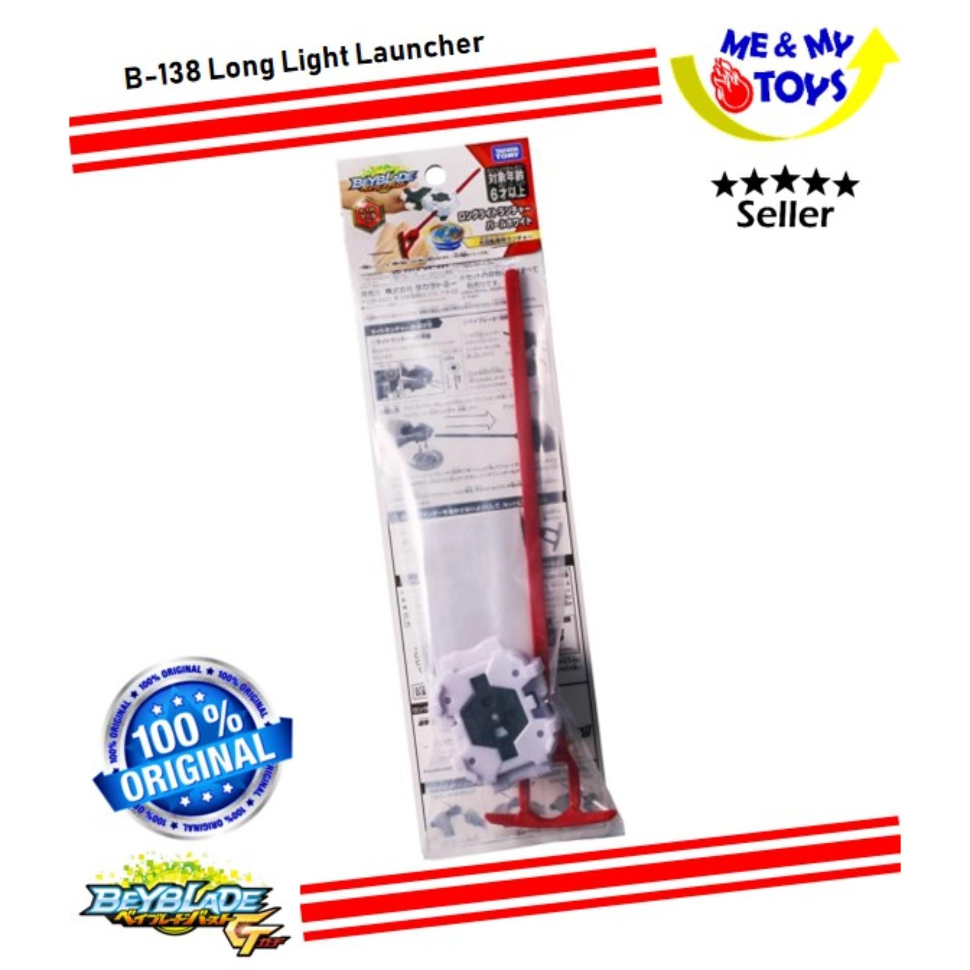 Takara Tomy Beyblade Burst GT B-138 Long Light Launcher Pearl White US Seller