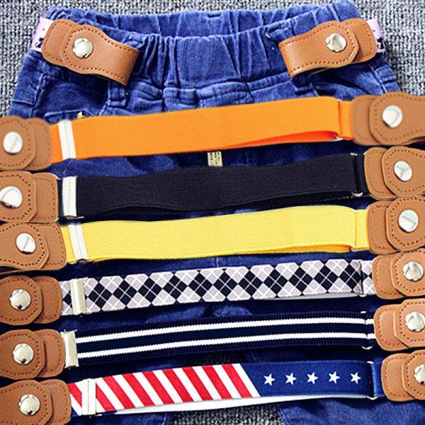 0duw Trẻ Em Khóa Có Thể Điều Chỉnh Miễn Phí Jeans Dây Thắt Lưng Eo Co Giãn Vành Đai Chống Khấu Trừ Trẻ Em Đàn Hồi Nam Nữ