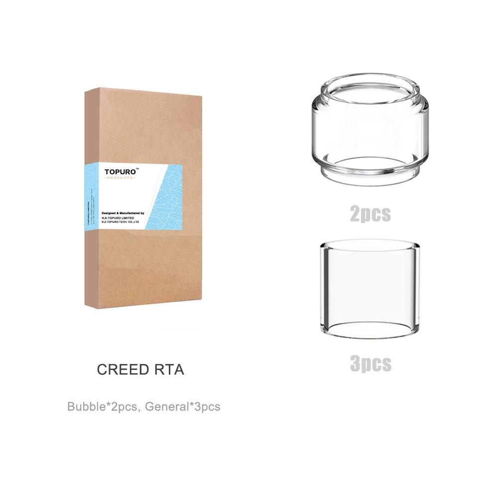 (5-Pack)GeekVape Creed RTA Tank Replacement Glass Normal and Fat Version