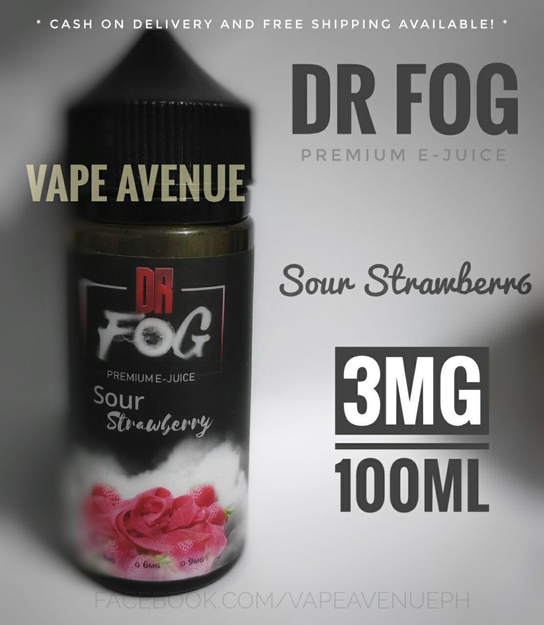 DR FOG 3MG 100ML [ Frozen Lychee / Strawberry Cheesecake / Creamy Milk /  Vanilla Soda / Cappuccino Delight / Yacold / Frozen Bazoocka / Sour