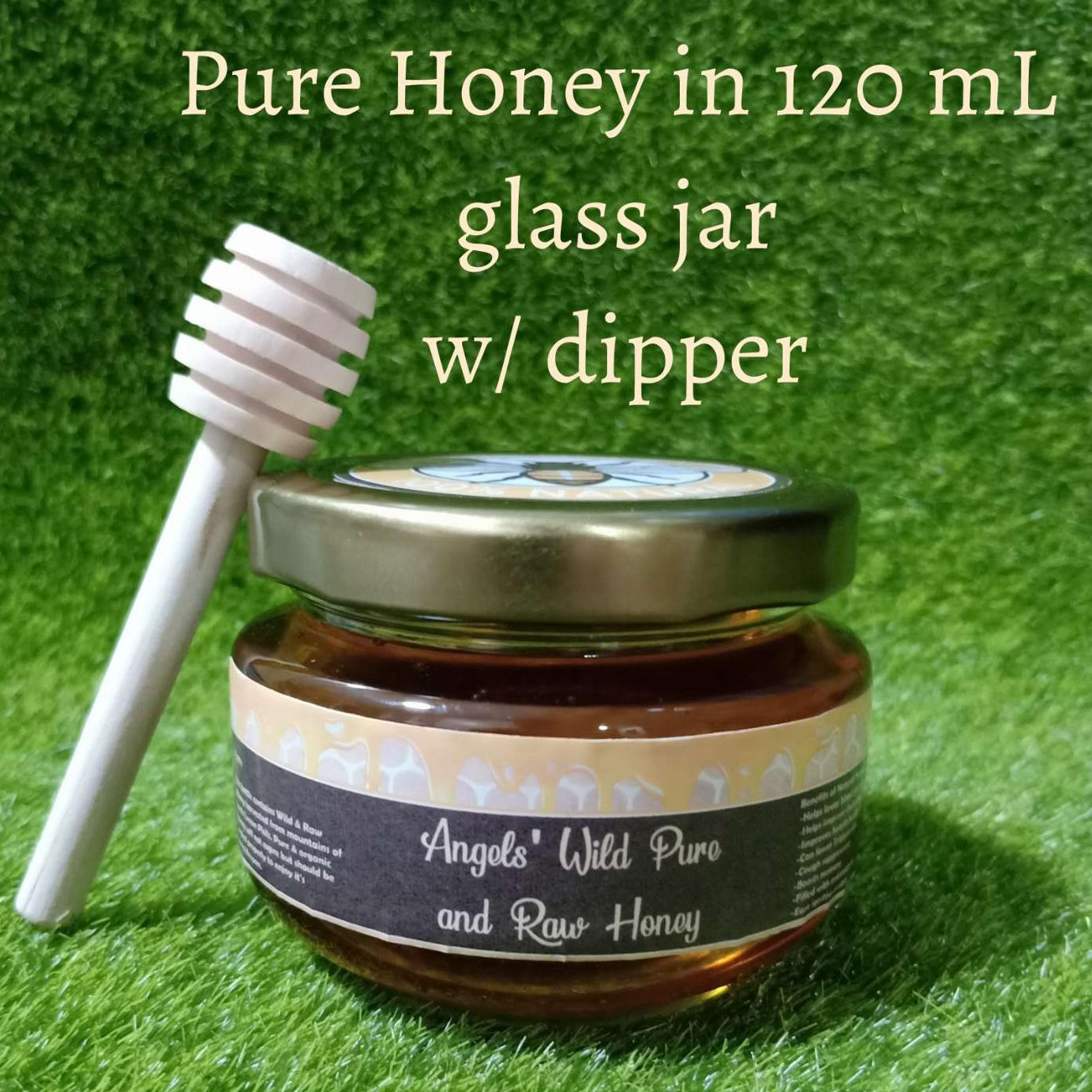 Honey Pure Raw Wild 120ml In Glass Jar With Dipper By Our Little Angels Stuff.