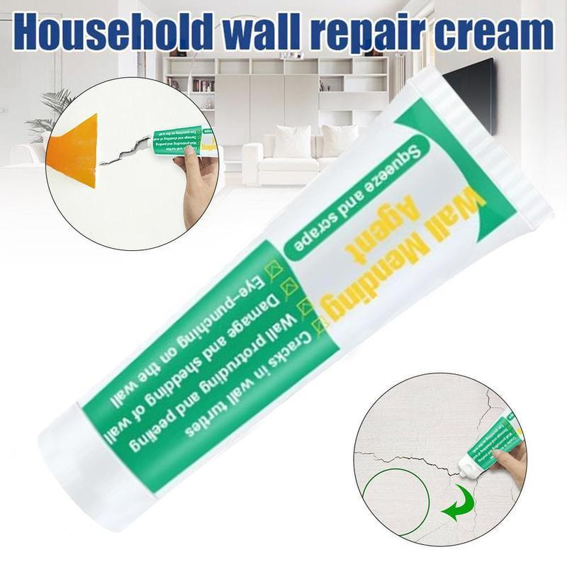 150g Wall Mending Agent Wall Repair Cream Wall Crack Nail Repair Agent Cream Crack Wall Nail Fast Drying Repair Restore Original