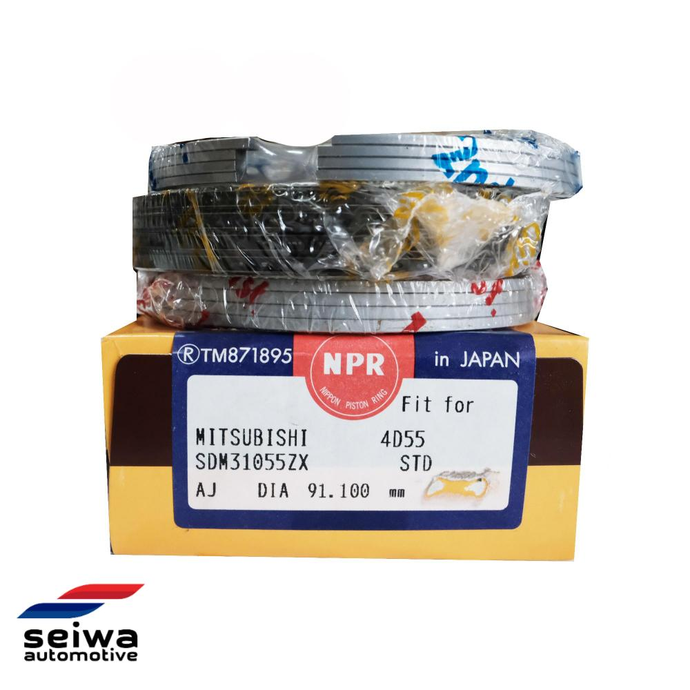 NPR Piston Ring Set Standard Size Fits Mitsubishi Non-Turbo 4D55 4D56