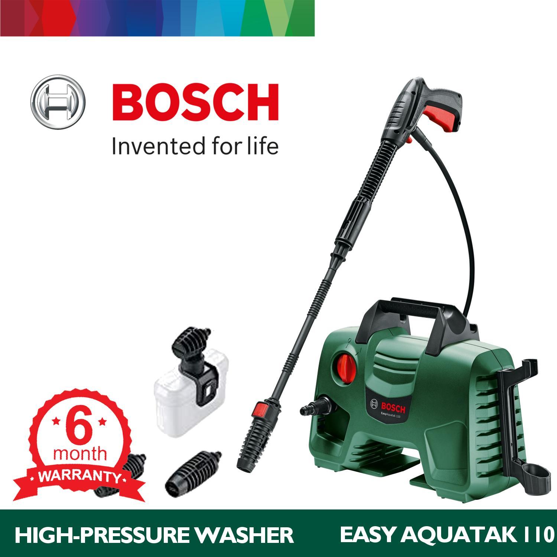 Myjki wysokociśnieniowe Majsterkowanie Bosch EasyAquatak 110 Portable High-Pressure Washer for Home Next to AQT 33-11