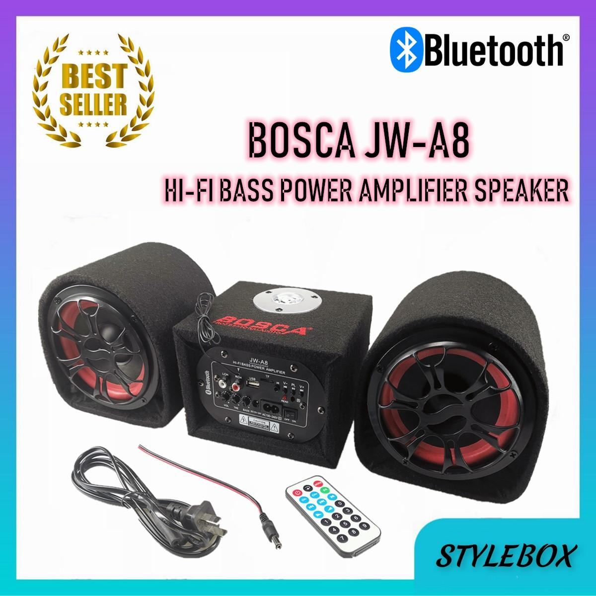Bosca JW-A8 2 1 Bluetooth HI-FI Bass Power Amplifier speaker with remote  control with USB port TF port Great for Automotive,Smart phones,Music,