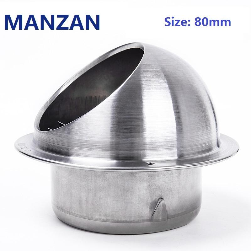 Admirable 80Mm 3 Stainless Steel Wall Air Vent Ducting Ventilation Exhaust Grille Cover Outlet Stainless Pipe Hood With Stainless Mesh For Exhaust Download Free Architecture Designs Scobabritishbridgeorg
