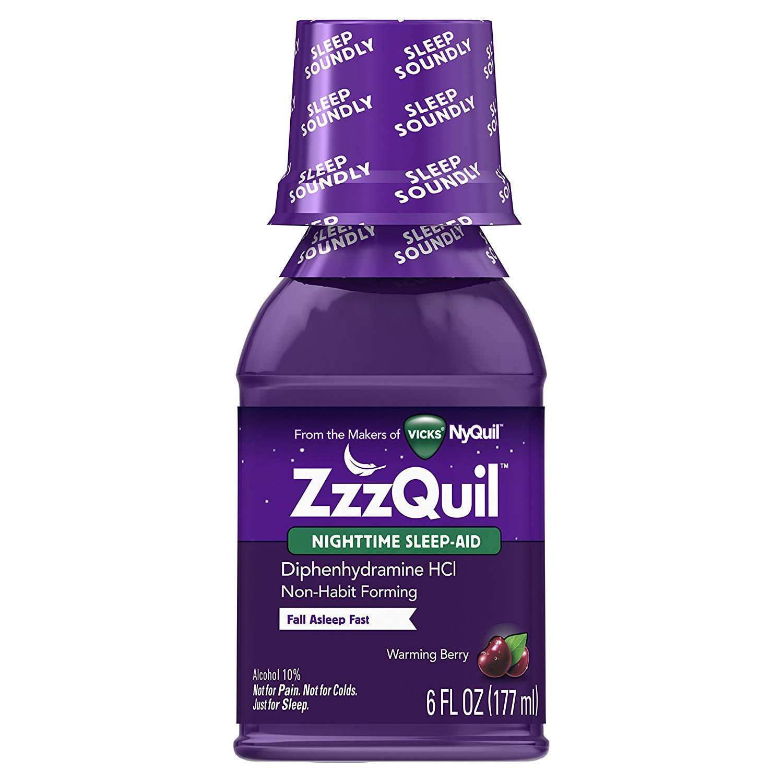 Vicks ZzzQuil Nighttime Sleep Aid, Warming Berry Liquid 6 oz